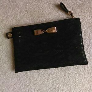 Black wristlet Victoria's Secret makeup bag new